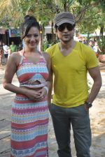 Rajeev Khandelwal and Madalasa Sharma at Waterkingdom to celebrate its 16th Anniversary and promote Samrat & Co. in Mumbai on 27th April 2014 (60)_535e015238740.JPG