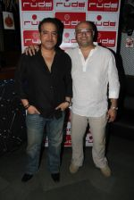Ravi Behl with host and composer Raju Singh at the Boogie Woogie karaoke party in Rude Lounge, Bandra_537cb4d2e770a.jpg