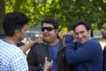 Director Sajid Khan with Ritiesh Deshmukh and Saif Ali Khan in the still from movie Humshakals