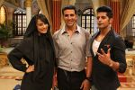 Akshay Kumar_s Action Lessons to Surbhi Jyoti on the sets of Qubool Hai on 2nd June 2014(3)_538fd524c168f.jpg