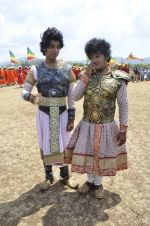 Faisal Khan at Maharana Pratap serial on location in Umergaon, Mumbai on 13th June 2014 (31)_539bb534350ce.JPG