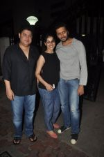 Rietesh Deshmukh and Genelia D_souza, Sajid Khan at Humshakals screening on 21st June 2014 (15)_53a6ba162faa2.JPG