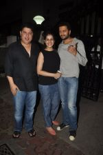 Rietesh Deshmukh and Genelia D_souza, Sajid Khan at Humshakals screening on 21st June 2014 (22)_53a6ba16b8d2f.JPG