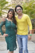 Priti Sharma, Sidhant Singh On location shooting of film Hume Toh Loot Liya in Mumbai on 30th June 2014 (88)_53b275c5aaaed.JPG