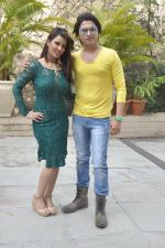 Priti Sharma, Sidhant Singh On location shooting of film Hume Toh Loot Liya in Mumbai on 30th June 2014 (89)_53b276397e675.JPG
