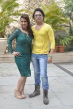 Priti Sharma, Sidhant Singh On location shooting of film Hume Toh Loot Liya in Mumbai on 30th June 2014 (91)_53b275c640016.JPG
