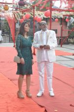 Tinu Anand, Priti Sharma On location shooting of film Hume Toh Loot Liya in Mumbai on 30th June 2014 (74)_53b275cc77cee.JPG