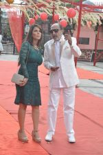 Tinu Anand, Priti Sharma On location shooting of film Hume Toh Loot Liya in Mumbai on 30th June 2014 (76)_53b275cd09391.JPG