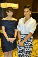 Neha Dhupia, Michelle Poonawala at 10th annual Gemfields and Nazrana Retail Jeweller Awards in Mumbai on 3rd July 2014 (58)_53b59ab3e7a63.JPG