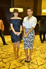 Neha Dhupia, Michelle Poonawala at 10th annual Gemfields and Nazrana Retail Jeweller Awards in Mumbai on 3rd July 2014 (62)_53b59a9e339a6.JPG