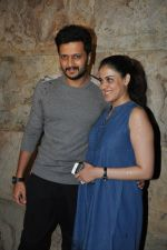 Riteish Deshmukh, Genelia Dsouza at Special Screening of Bobby Jasoos in Lightbox, Mumbai on 3rd July 2014 (1)_53b6949a424ad.JPG