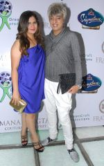 Manali Jagtap with Rohit Verma at Manali Jagtap_s Couture Bridal collection in Mumbai on 13th July 2014_53c3ac0d3a546.JPG