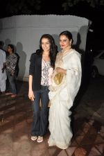 Rekha, Shraddha Kapoor at Bhansali_s party for Mary Kom completion in Bandra, Mumbai on 25th July 2014 (39)_53d3a1689f4d1.JPG