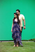 Ankit Saraswat with Anchal Singh at the shooting of Hai Tu in Madh Island on 4th Aug 2014 (2)_53e1cc3f66ced.JPG