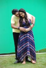 Ankit Saraswat with Anchal Singh at the shooting of Hai Tu in Madh Island on 4th Aug 2014 (11)_53e1cc4664b00.JPG