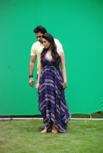Ankit Saraswat with Anchal Singh at the shooting of Hai Tu in Madh Island on 4th Aug 2014 (3)_53e1cba66e907.JPG