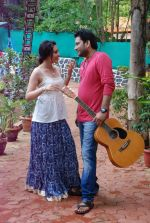 Ankit Saraswat with Anchal Singh at the shooting of Hai Tu in Madh Island on 4th Aug 2014 (38)_53e1cbbb5d59b.JPG