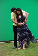 Ankit Saraswat with Anchal Singh at the shooting of Hai Tu in Madh Island on 4th Aug 2014 (5)_53e1cc4235052.JPG