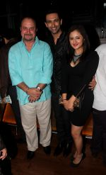 Raju Kher, Nandish Sandhu and Rashmi Desai at the music launch of Plot No. 666, Restricted Area_53e36cd5325f1.jpg