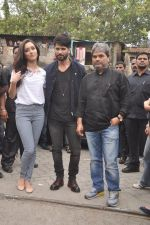 Shraddha Kapoor, Shahid Kapoor, Vishal Bharadwaj at Haider promotions at Umang College festival  in Parle, Mumbai on 15th Aug 2014 (44)_53ef4ccd147c0.JPG