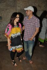 Alvira Khan, Atul Agnihotri at Singham Returns screening in Lightbox on 16th Aug 2014 (1)_53f09b9f54671.JPG