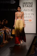 Model walk the ramp for Neha Agarwal at LFW 2014 Day 6 on 24th Aug 2014 (115)_53fc923b5bd99.JPG