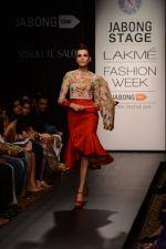 Model walk the ramp for Neha Agarwal at LFW 2014 Day 6 on 24th Aug 2014 (121)_53fc924348fbe.JPG