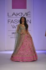 Nargis Fakhri walk the ramp for Anushree Reddy at LFW 2014 Day 5 on 23rd Aug 2014 (4)_53fc8f7b017a2.JPG