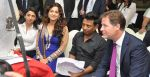 from L to R- Bhavna Talwar, Juhi Chawla, Onir, The Rt Hon Deputy Prime Minister of U.K. Nick Clegg at the Muhurat of the film _Veda__53fdd8d742a05.JPG