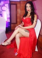 Shanti Dynamite posing at the first look launch of the movie _I Love Dubai__004 (2)_5407f54cb7108.JPG