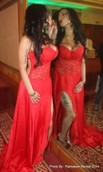 Shanti Dynamite posing at the first look launch of the movie _I Love Dubai__004 (5)_5407f54f9aa34.JPG