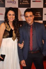 Yash Tonk, Gauri Tonk at Indian Telly Awards in Filmcity, Mumbai on 9th Sept 2014 (589)_54100953442d1.JPG