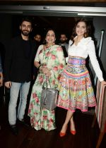 Fawad Khan, Kirron Kher, Sonam Kapoor  in Manish Arora dress  at Khoobsurat promotions at Vasant Kunj, Delhi on 15th Sept 2014 (66)_5417e68a2ece2.JPG