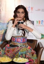 Sonam Kapoor  in Manish Arora dress  at Khoobsurat promotions at Vasant Kunj, Delhi on 15th Sept 2014 (61)_5417e6af4fa72.JPG