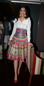 Sonam Kapoor  in Manish Arora dress  at Khoobsurat promotions at Vasant Kunj, Delhi on 15th Sept 2014 (64)_5417e6b463175.JPG