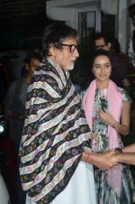 Amitabh Bachchan, Shraddha Kapoor at Haider screening in Sunny Super Sound on 30th Sept 2014 (311)_542be193700e7.JPG