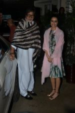 Amitabh Bachchan, Shraddha Kapoor at Haider screening in Sunny Super Sound on 30th Sept 2014 (315)_542be195ec5e5.JPG