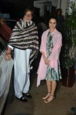Amitabh Bachchan, Shraddha Kapoor at Haider screening in Sunny Super Sound on 30th Sept 2014 (317)_542be197a567d.JPG
