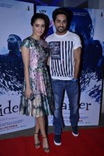 Shraddha Kapoor, Ayushman Khurana at Haider screening in Sunny Super Sound on 30th Sept 2014 (12)_542be3ec6de81.JPG