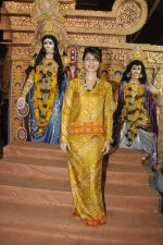 Tanisha Mukherjee at Durga Pooja on 4th Oct 2014 (9)_5430bc73bb28f.JPG