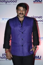 Manoj Tiwari at Planet Hollywood launch announcement in Mumbai on 9th Oct 2014 (1)_54377b0a6a3ef.JPG