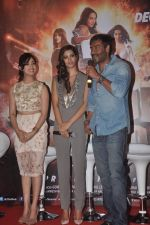 Ajay Devgn, Yami Gautam, Manasvi Mamgai at the First look launch of Action Jackson in Mumbai on 22nd Oct 2014 (11)_5448ea8c2451c.JPG