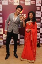 Siddhant aka Manish Raisinghania with Roli aka Avika Gor at the celebration of Sasural Simar Ka 1000 episode completion_5448d3eca9b44.JPG