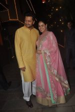 Genelia Deshmukh, Riteish Deshmukh at Amitabh Bachchan and family celebrate Diwali in style on 23rd Oct 2014