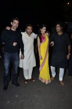 Hrithik Roshan, Uday Chopra, Nargis Fakhri, Sikander Kher at Amitabh Bachchan and family celebrate Diwali in style on 23rd Oct 2014 (122)_544a4889d2de6.JPG