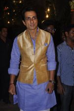 Sonu Sood at Amitabh Bachchan and family celebrate Diwali in style on 23rd Oct 2014