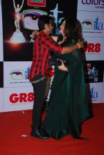 Kunika, Karanvir Bohra at ITA Awards red carpet in Mumbai on 1st Nov 2014 (232)_54563682b3d61.JPG