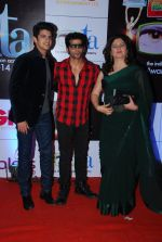 Kunika, Karanvir Bohra at ITA Awards red carpet in Mumbai on 1st Nov 2014 (234)_5456368414b2e.JPG