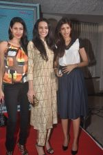 Nethra Raghuraman, Dipannita Sharma and Fleur Xavier at the First Look and Music Launch of the film Take It Easy in Andheri, Mumbai on 5th Nov 2014 (51)_545b858b7a25e.JPG