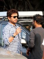 Irrfan Khan snapped in Kolkata on the sets of movie Piku on 8th Nov 2014